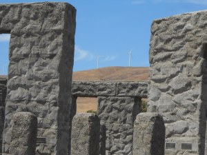 Stonehenge and Windmills near Hood River