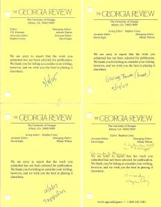 Georgia Review 2005 2007 2008