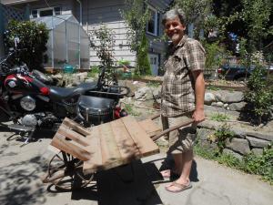 Homemade Wheelbarrow