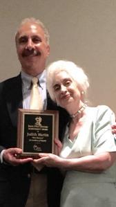 Miss Manners receives her Lifetime Achievement Award