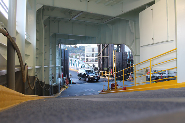 The dreaded ferry ramp