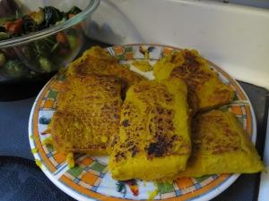 Chickpea Tofu I made at home. Um, why?