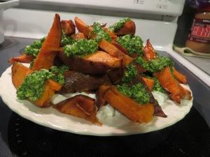 My Vertical Sweet Potatoes