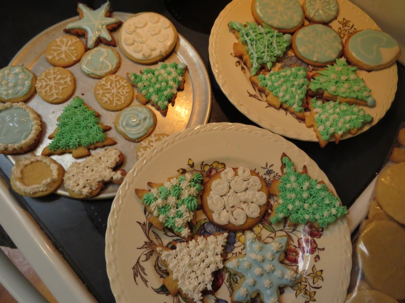 Cookies on my other grandmother's plates